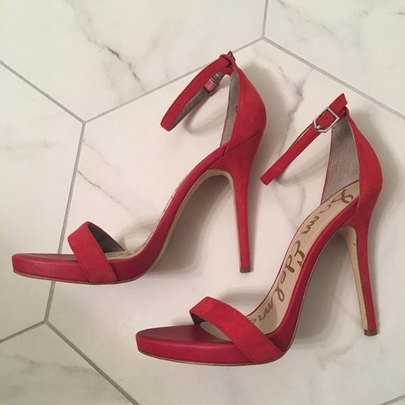 1f0511d067ca4e Sam Edelman Eleanor platform sandals red suede ♥ .  M 5b5e4af134a4ef63647dc2a0